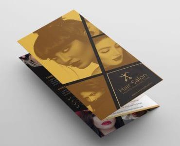 Hair Dresser Tri-Fold Brochure Template (Front)