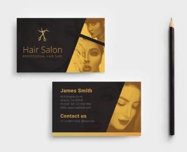 Hair Stylist Business Card Template