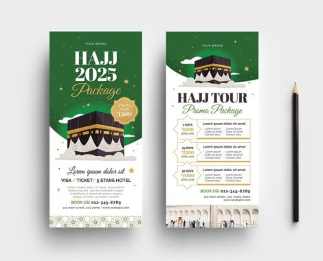 Hajj DL Card Template