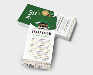 Hajj DL Card Template (Back)