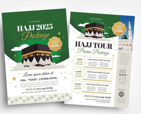 Hajj Flyer Template in PSD & Vector