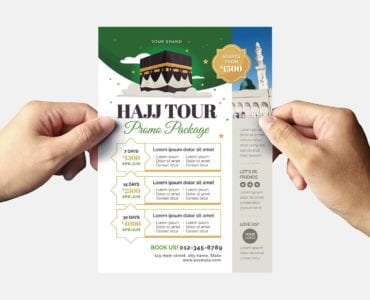 Hajj Flyer Template (Back)