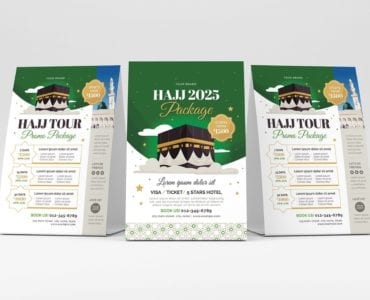 Hajj Flyer Template (Table Tent)