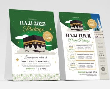Hajj Flyer Template (Table Tent Front)