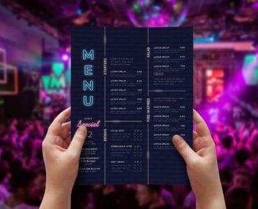 Nightclub Menu Template