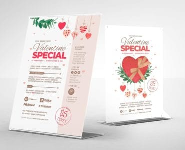 Valentine's Bar Flyer Template