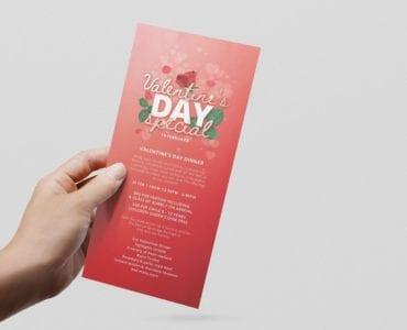Valentine's Day DL Menu Template