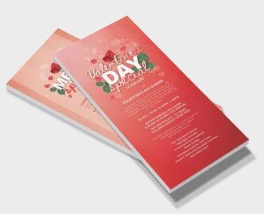 Valentine's Day DL Menu Template (Front)
