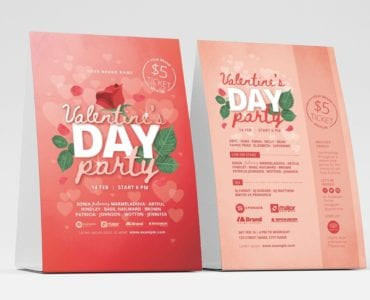 Valentine's Day Flyer Template v3
