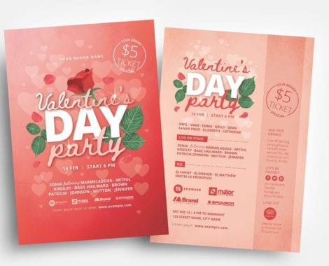 Valentine's Day Flyer Template v3