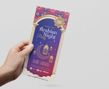 Arabian Nights DL Card Template (Front)
