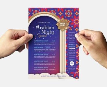 Arabian Nights Flyer Template (Back)