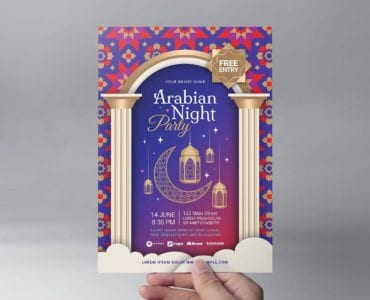 Arabian Nights Flyer Template (Front)
