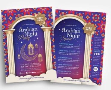 Arabian Nights Flyer Templates