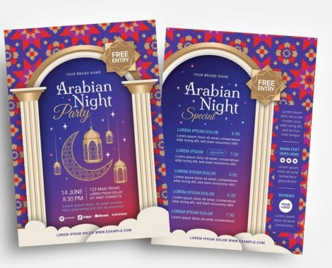 Arabian Nights Flyer Templates