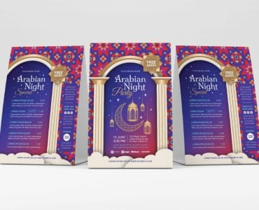 Arabian Nights Flyer Template (Table Tent)