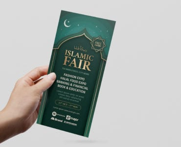 Islamic DL Card Template (Front)