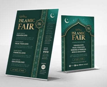 Islamic Flyer Template (table tent)