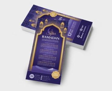 Ramadan Iftar DL Card Template (Back)
