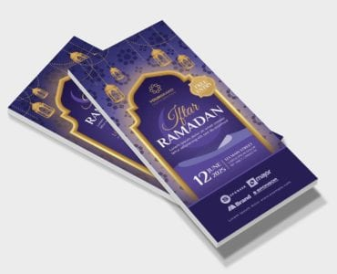 Ramadan Iftar DL Card Template (Front)