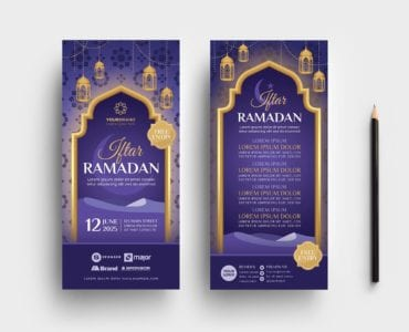 Ramadan Iftar DL Card Templates