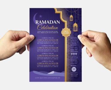 Ramadan Iftar Flyer Template (Back)