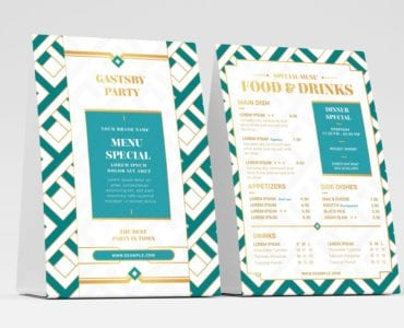 Modern Art Deco Flyer Template (Table Tent)