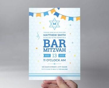 Bar Mitzvah Flyer Template (front)