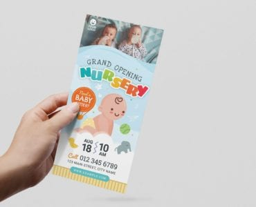 Children's Nursery Flyer Template (DL Card)