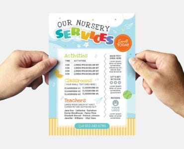 Children's Nursery Flyer Template (Back)