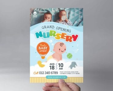 Children's Nursery Flyer Template (Front)