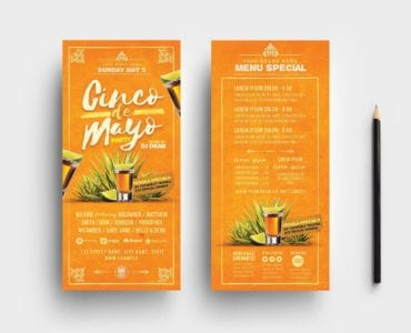 Cinco De Mayo Party Flyer Template (DL Card)