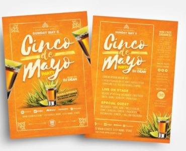 Cinco De Mayo Party Flyer Templates