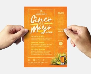 Cinco De Mayo Party Flyer Template (back)