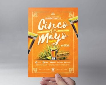 Cinco De Mayo Party Flyer Template (front)