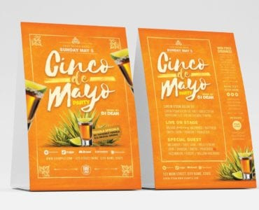 Cinco De Mayo Party Flyer Template (table tent)