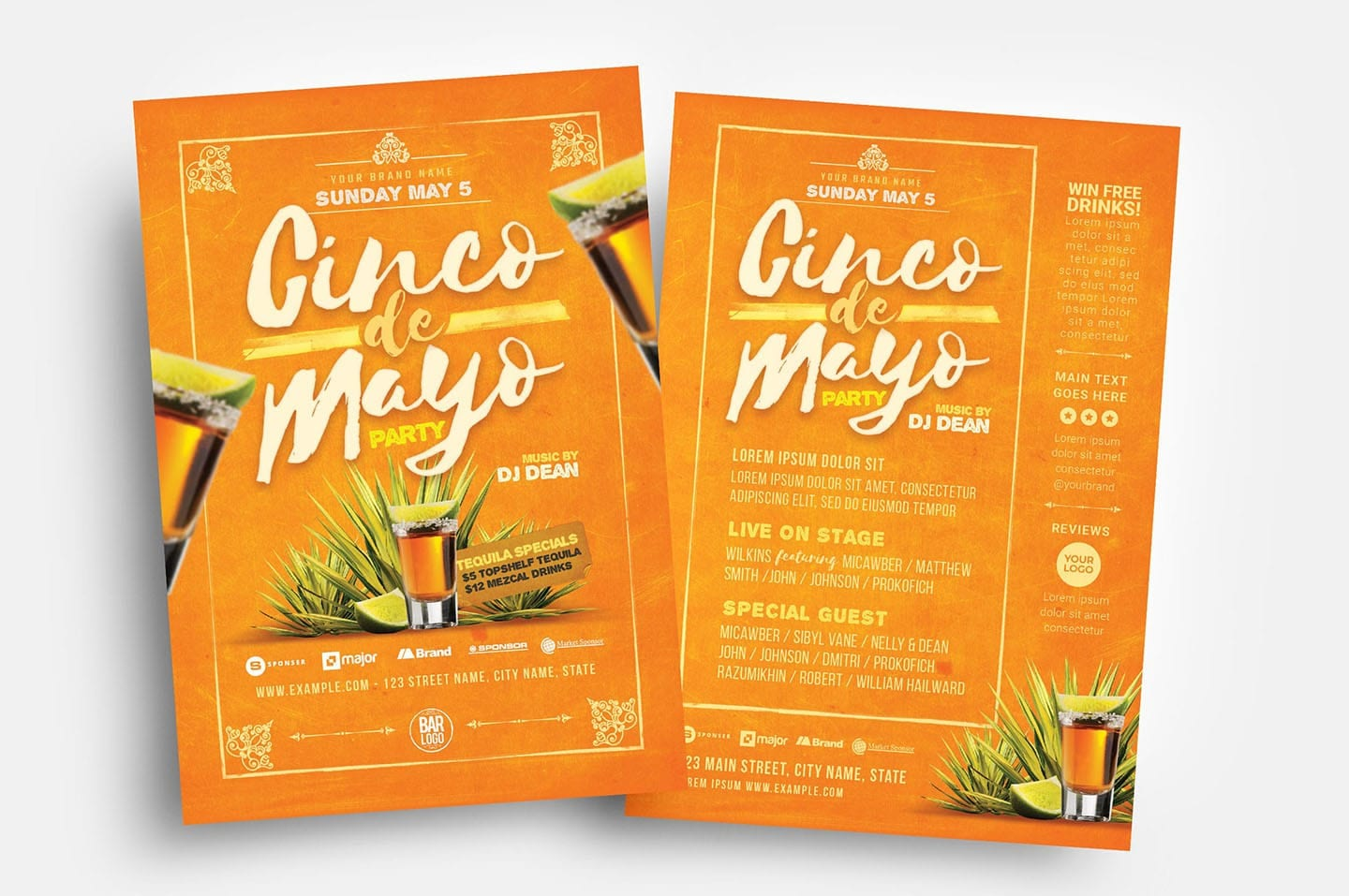 Cinco De Mayo Party Flyer Templates