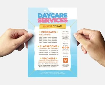 Daycare Flyer Template (Back)