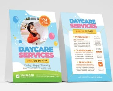 Daycare Flyer Template (Table Tent)