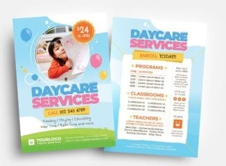 Daycare Flyer Templates (PSD, Ai & Vector)