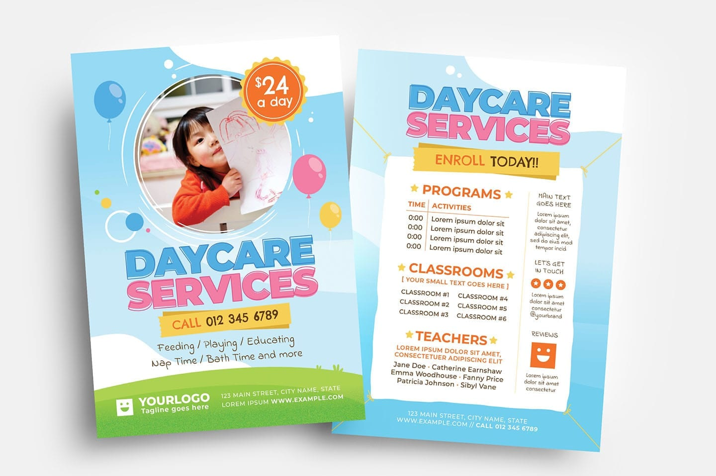 Daycare Flyer Templates - PSD, Ai & Vector - BrandPacks