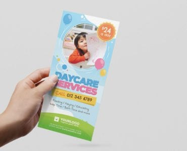 Daycare Flyer Templates (DL Card)