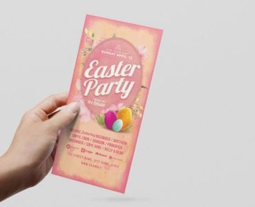Easter Party Flyer Template (DL Card)
