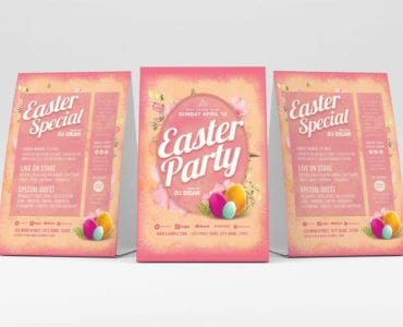 Easter Party Flyer Template (Table Tent)