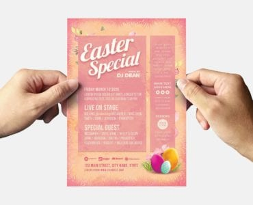 Easter Party Flyer Template (Back)