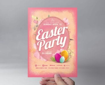 Easter Party Flyer Template (Front)