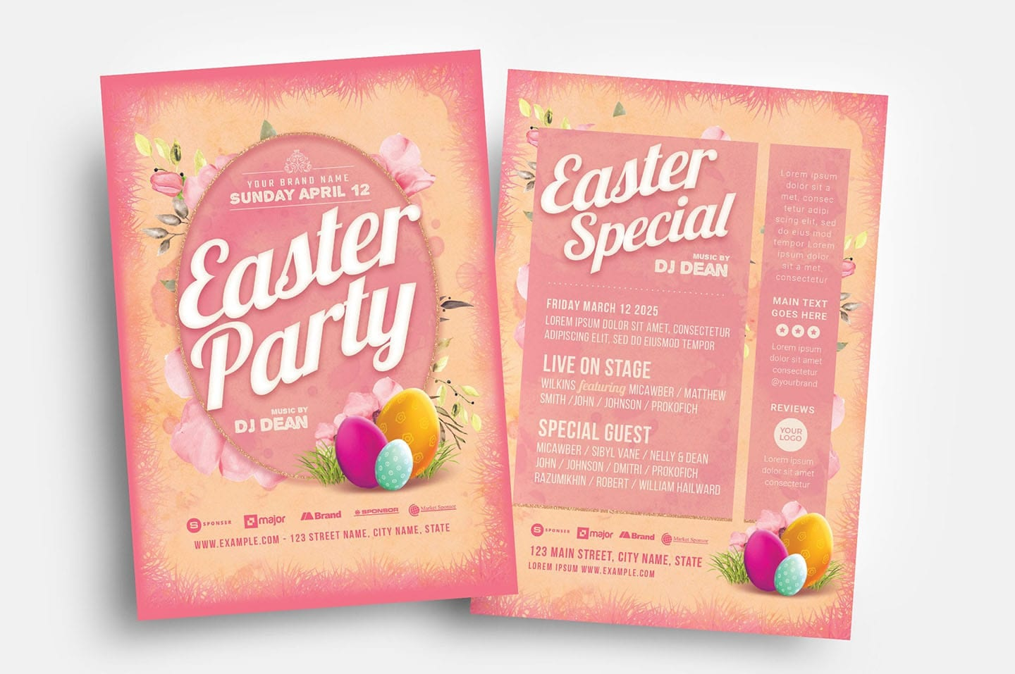 Easter Party Flyer Template (PSD, Ai & Vector)