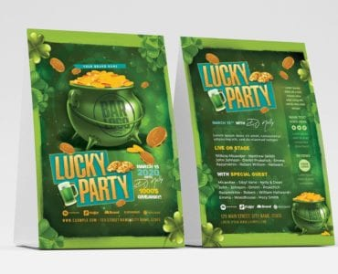 Saint Patrick's Day Party Flyer Template (Table Tent)
