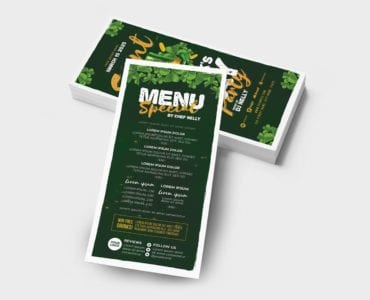 St. Patrick's Day Party Flyer Template (DL Card Back)