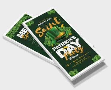 St. Patrick's Day Party Flyer Template (DL Card Front)